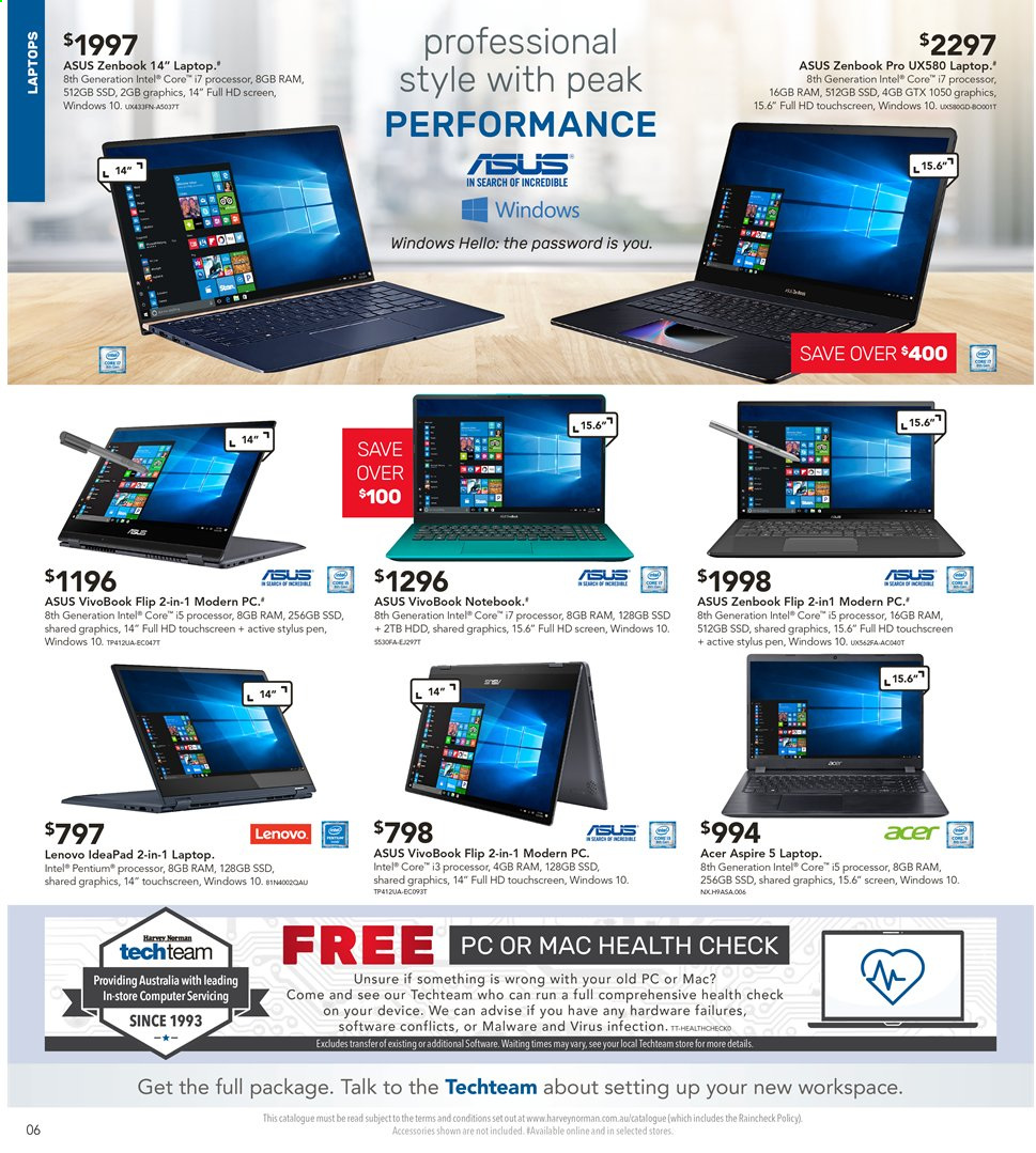Harvey Norman catalogue  - 3.5.2019 - 19.5.2019. Page 6.