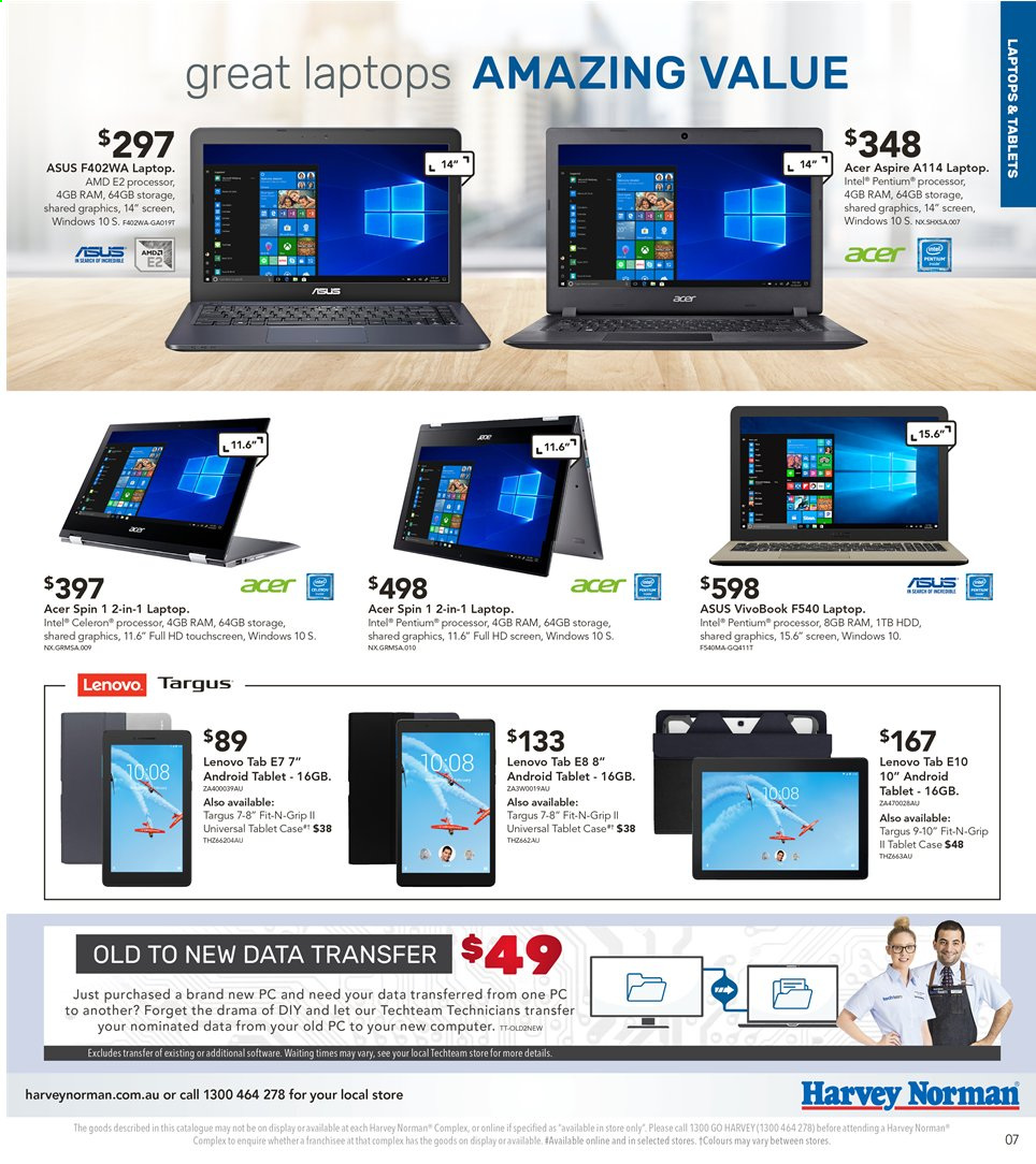 Harvey Norman catalogue  - 3.5.2019 - 19.5.2019. Page 7.