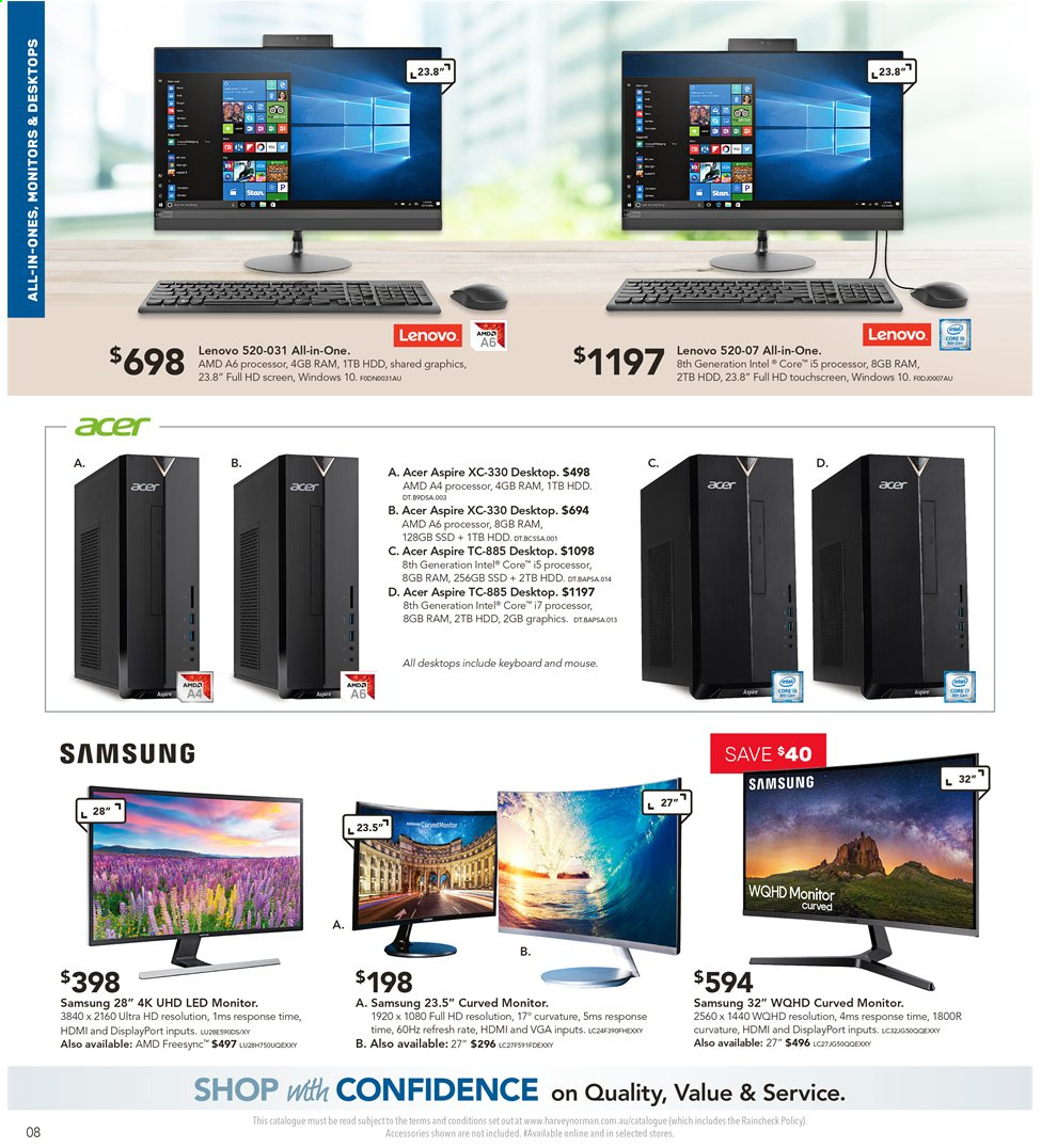 Harvey Norman catalogue  - 3.5.2019 - 19.5.2019. Page 8.