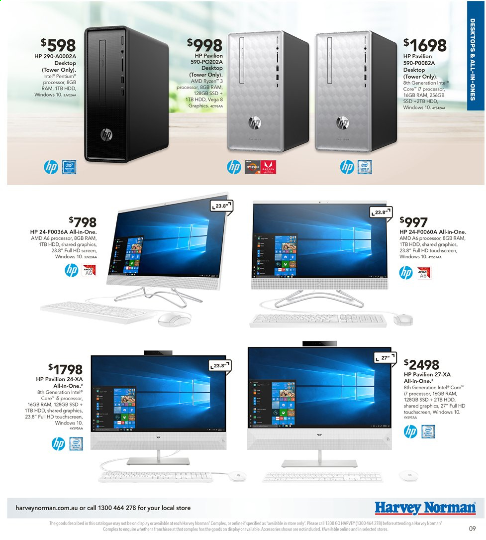 Harvey Norman catalogue  - 3.5.2019 - 19.5.2019. Page 9.