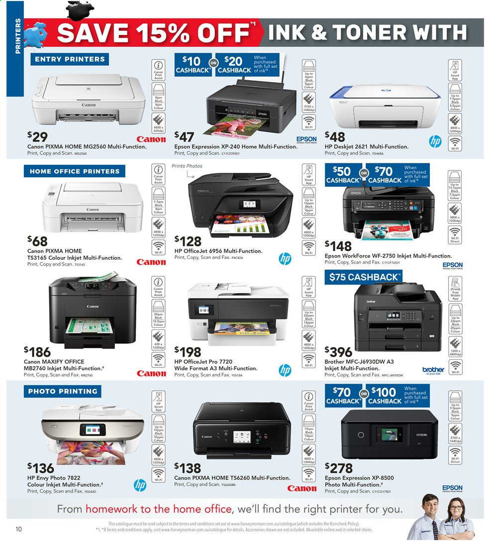 Harvey Norman catalogue  - 3.5.2019 - 19.5.2019. Page 10.