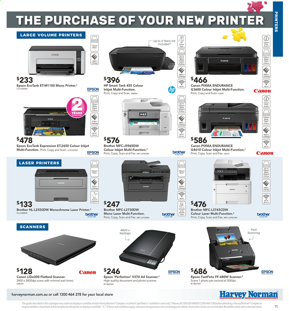 Harvey Norman catalogue  - 3.5.2019 - 19.5.2019. Page 11.