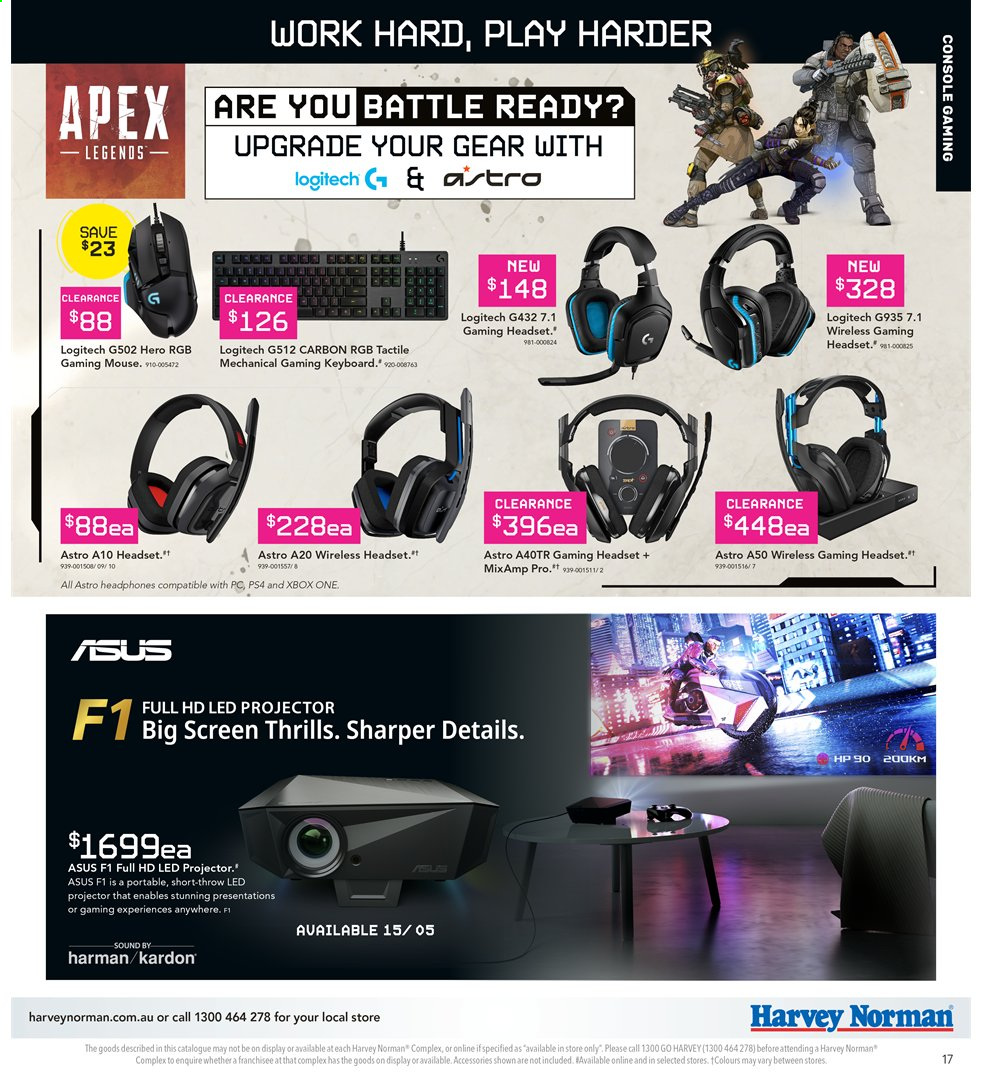 Harvey Norman catalogue  - 3.5.2019 - 19.5.2019. Page 17.