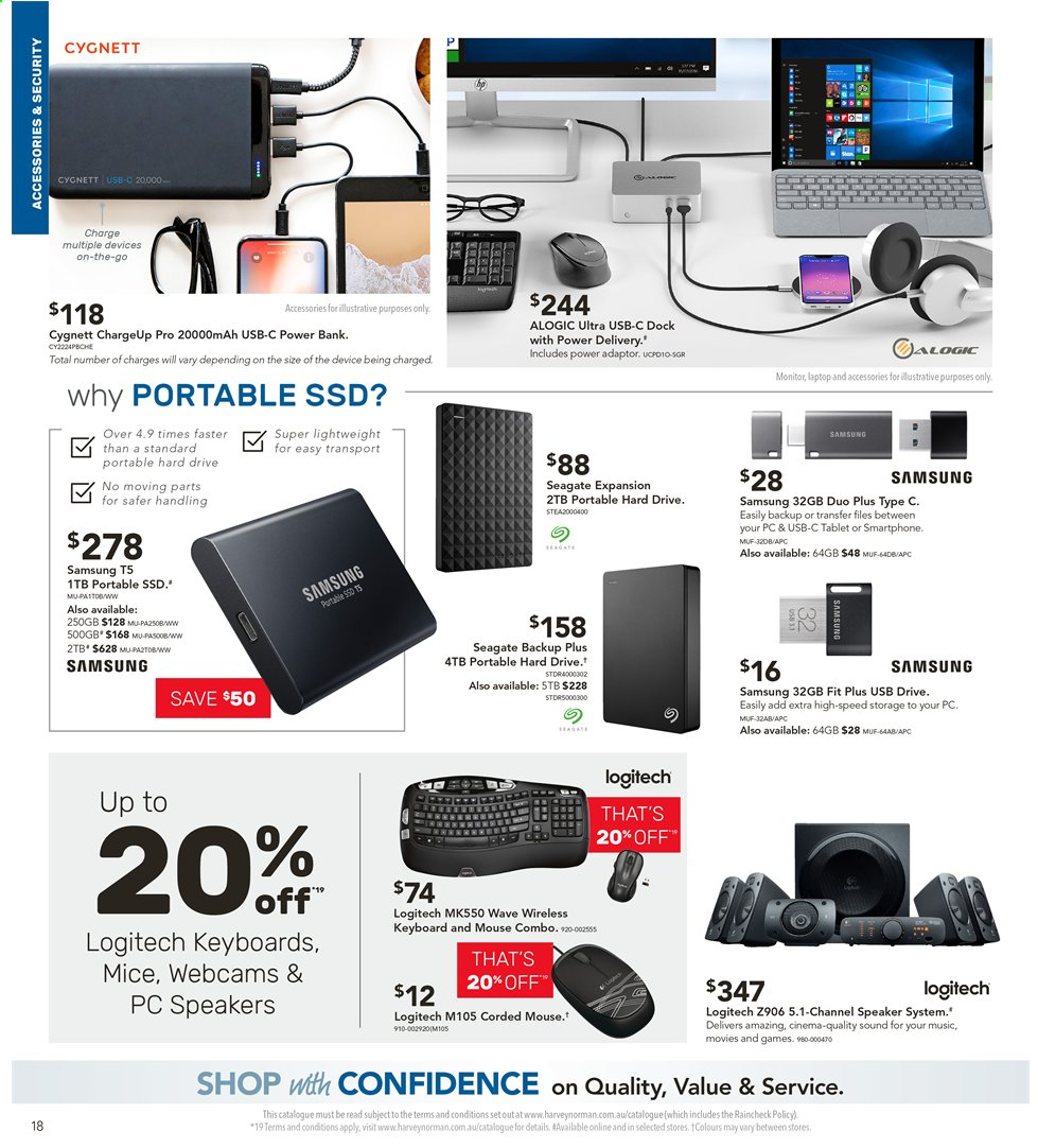 Harvey Norman catalogue  - 3.5.2019 - 19.5.2019. Page 18.