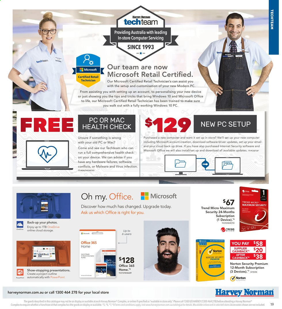 Harvey Norman catalogue  - 3.5.2019 - 19.5.2019. Page 19.