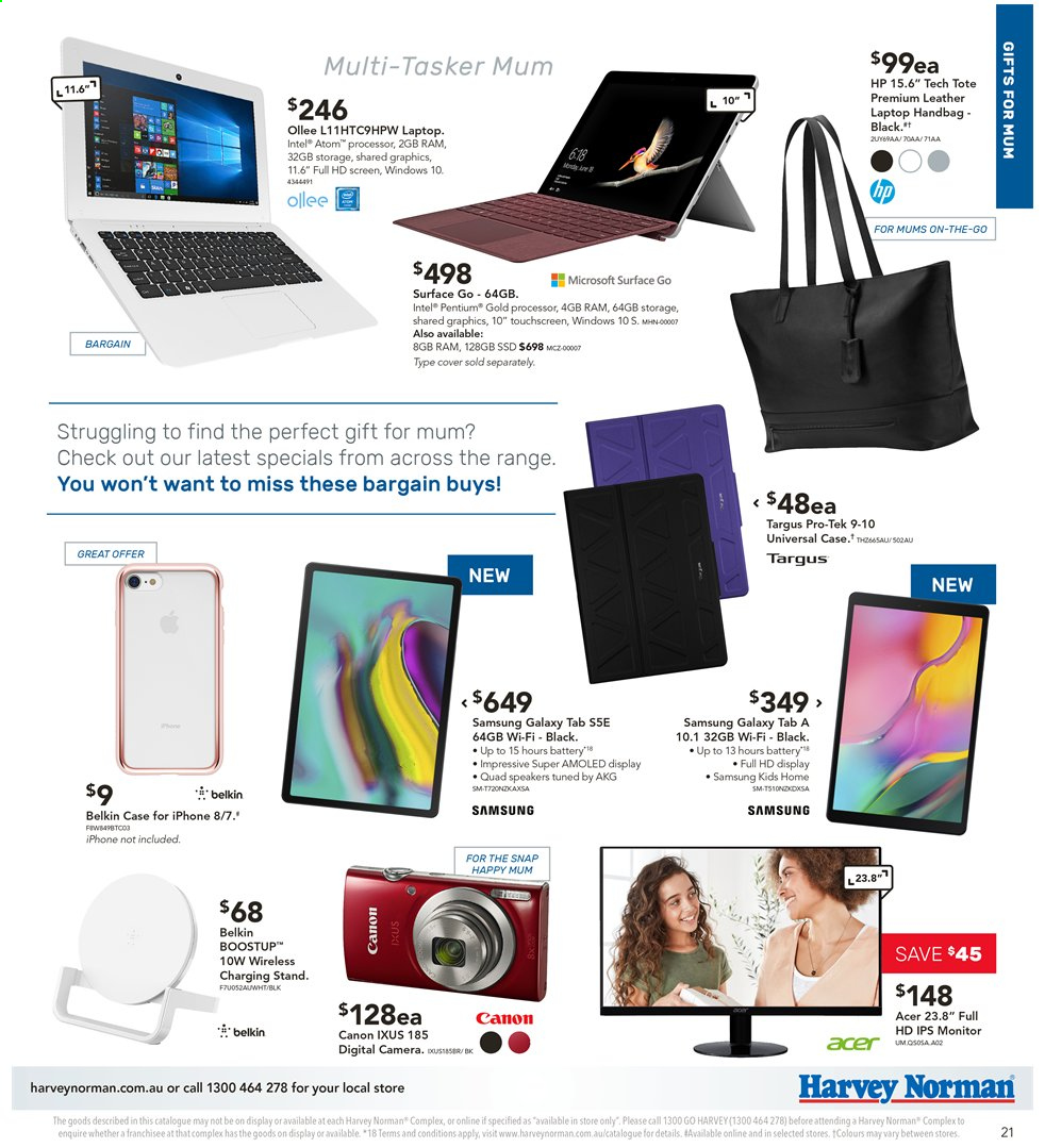 Harvey Norman catalogue  - 3.5.2019 - 19.5.2019. Page 21.