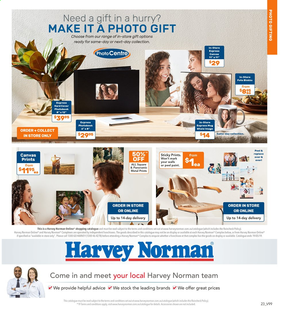 Harvey Norman catalogue  - 3.5.2019 - 19.5.2019. Page 23.