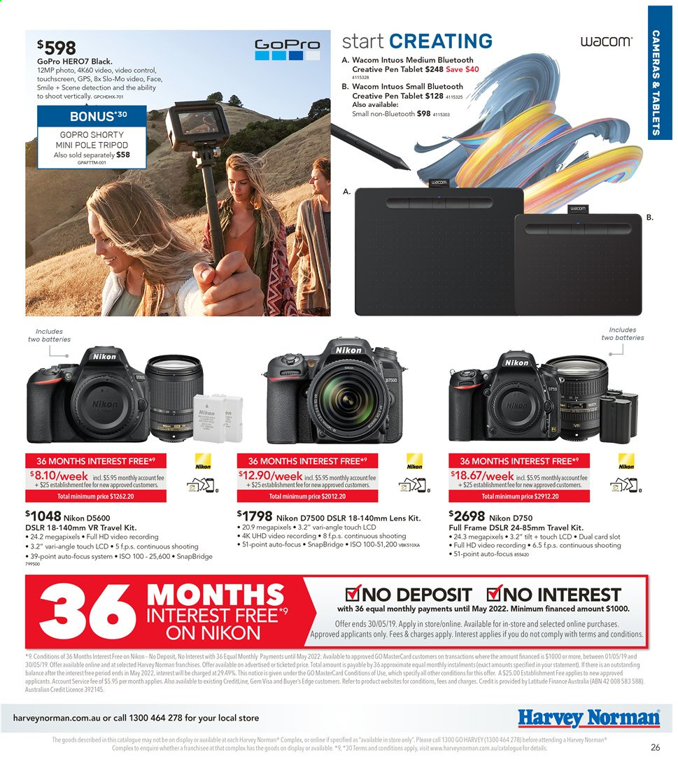 Harvey Norman catalogue  - 3.5.2019 - 19.5.2019. Page 27.