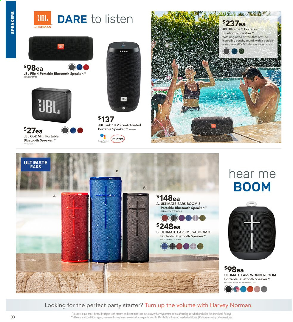 Harvey Norman catalogue  - 3.5.2019 - 19.5.2019. Page 32.