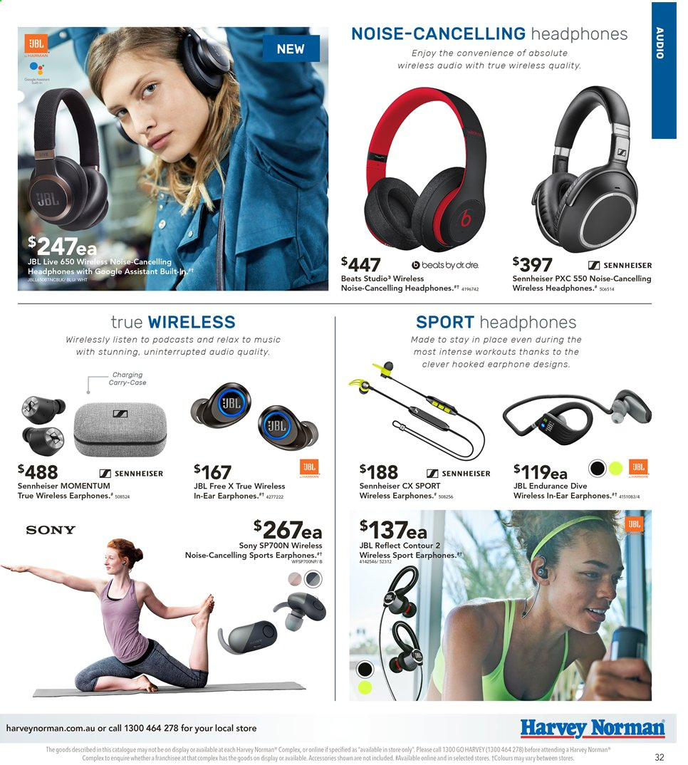 Harvey Norman catalogue  - 3.5.2019 - 19.5.2019. Page 33.