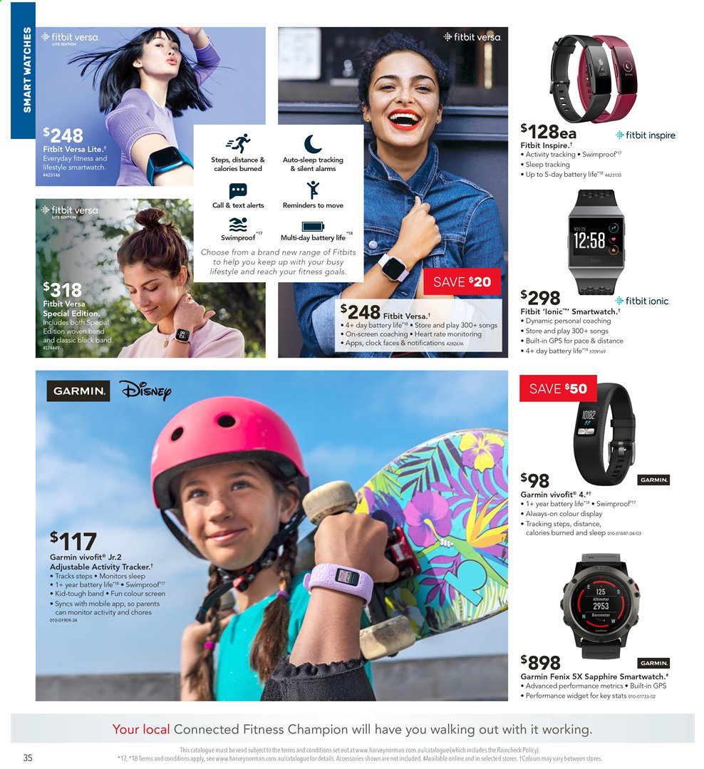 Harvey Norman catalogue  - 3.5.2019 - 19.5.2019. Page 34.