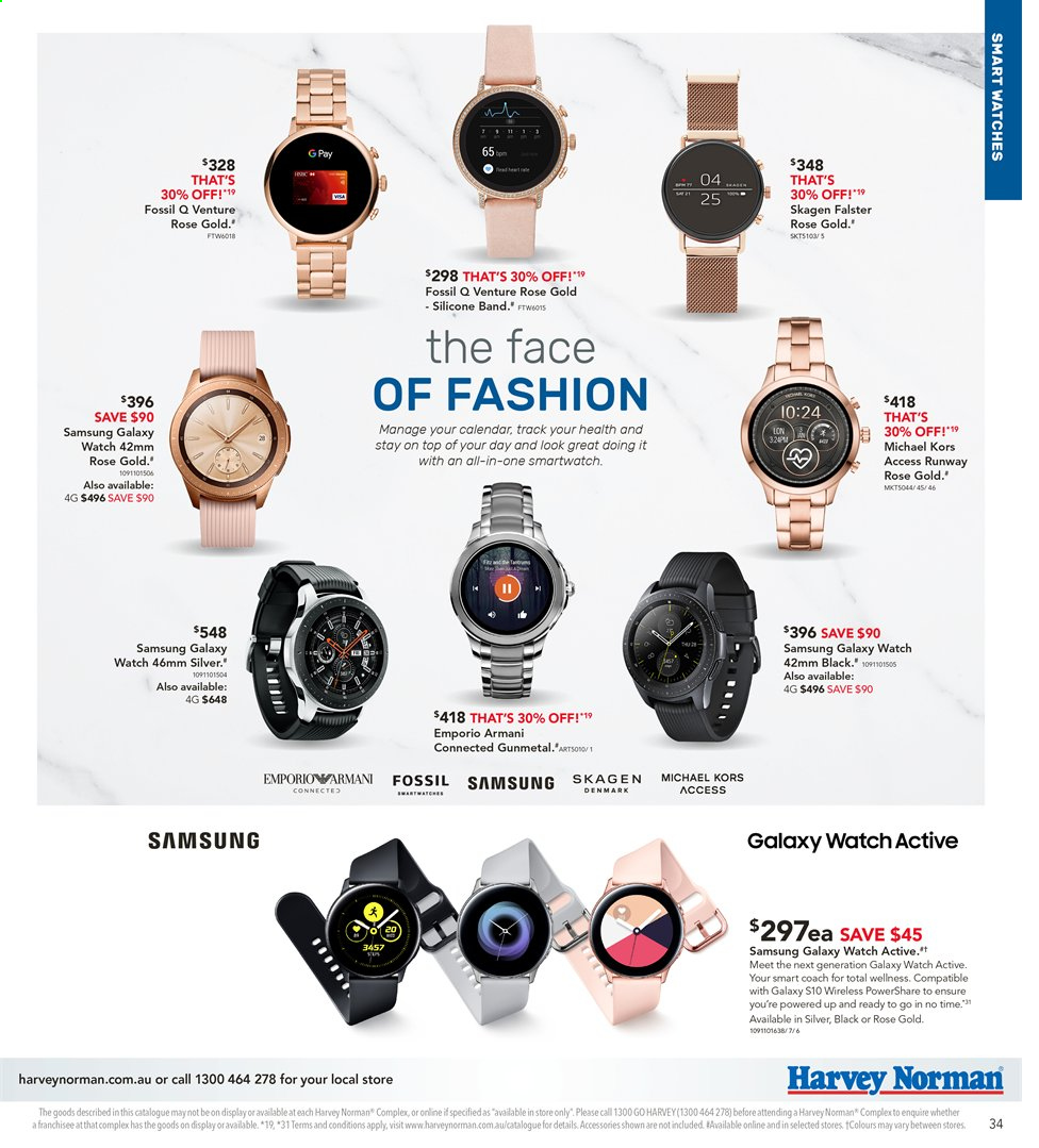 Harvey Norman catalogue  - 3.5.2019 - 19.5.2019. Page 35.