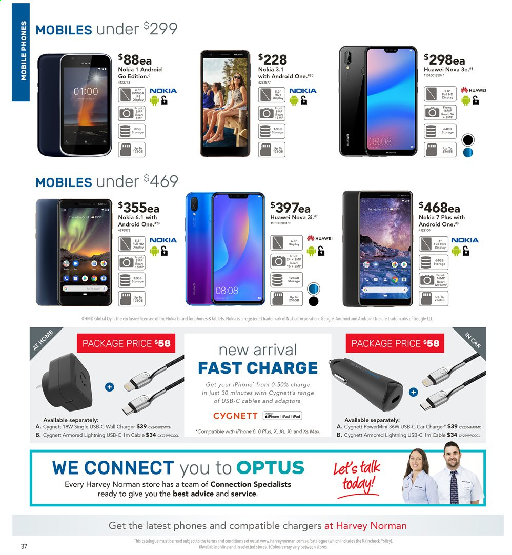 Harvey Norman catalogue  - 3.5.2019 - 19.5.2019. Page 36.