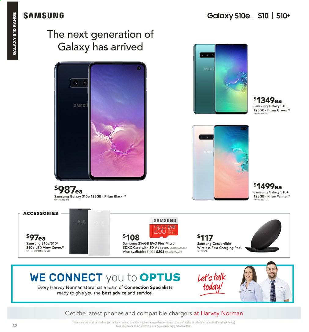 Harvey Norman catalogue  - 3.5.2019 - 19.5.2019. Page 38.