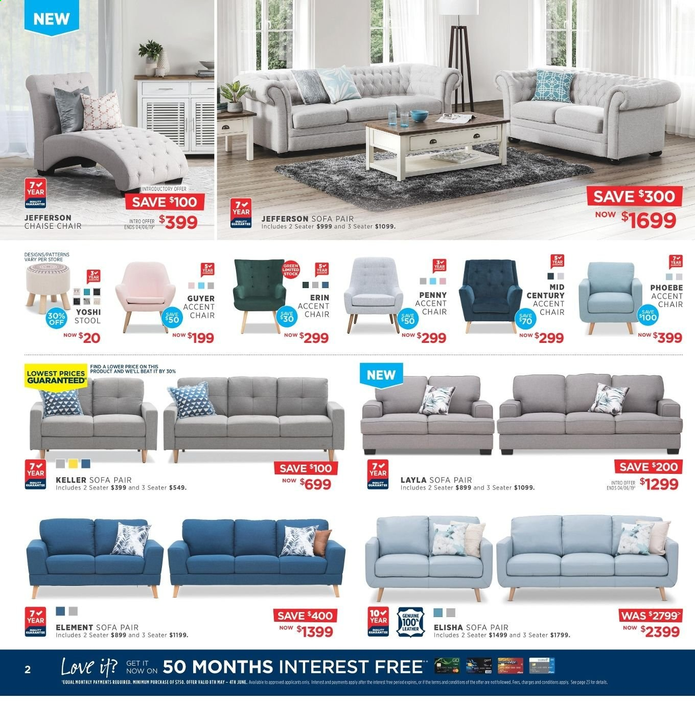 Amart Furniture catalogue  - 8.5.2019 - 4.6.2019. Page 2.