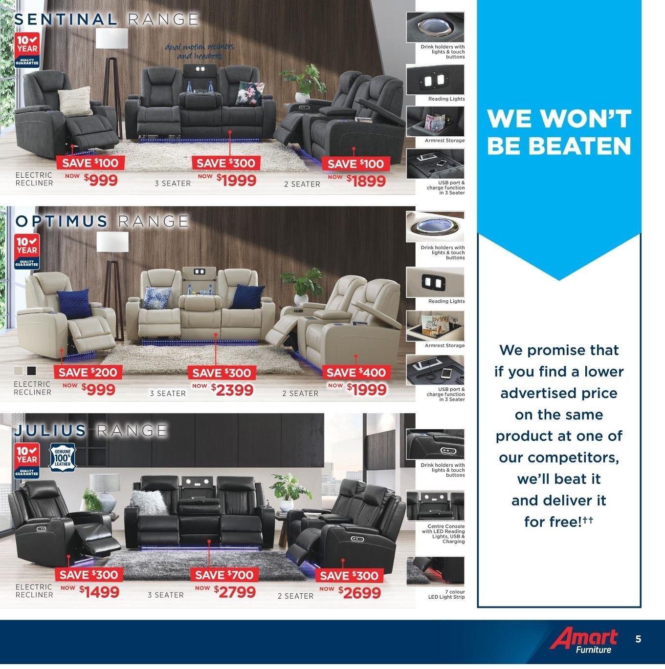 Amart Furniture catalogue  - 8.5.2019 - 4.6.2019. Page 5.
