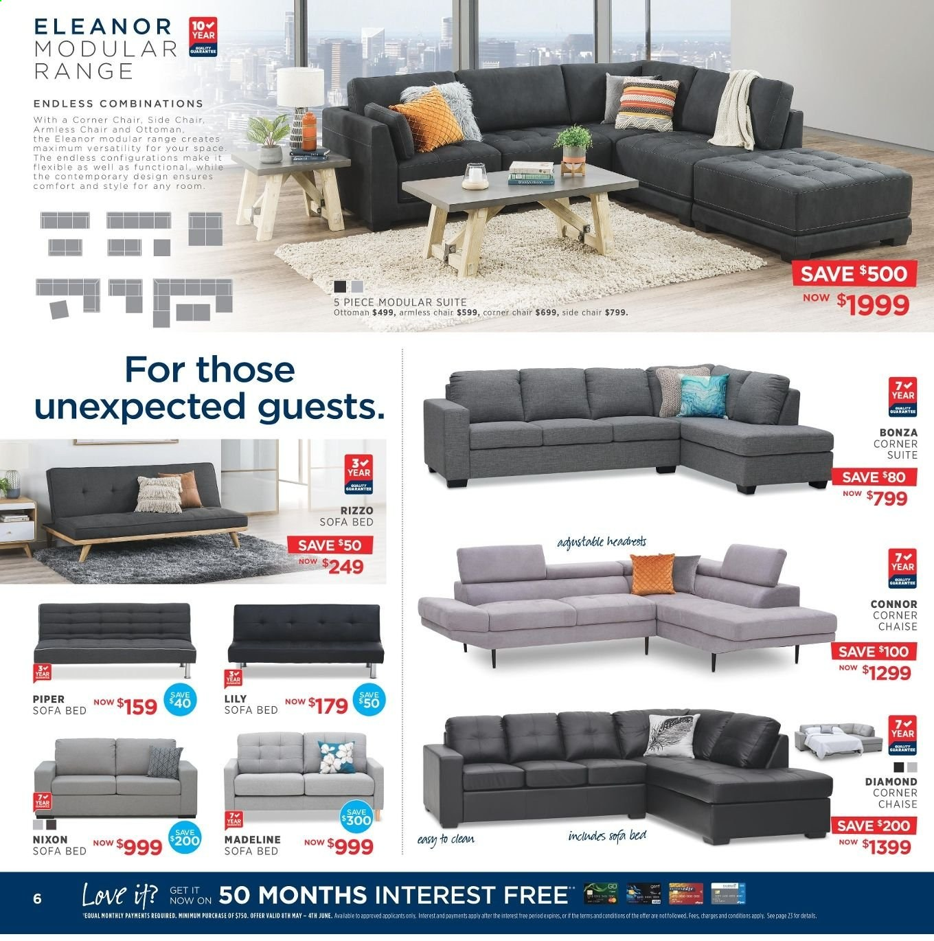 Amart Furniture catalogue  - 8.5.2019 - 4.6.2019. Page 6.