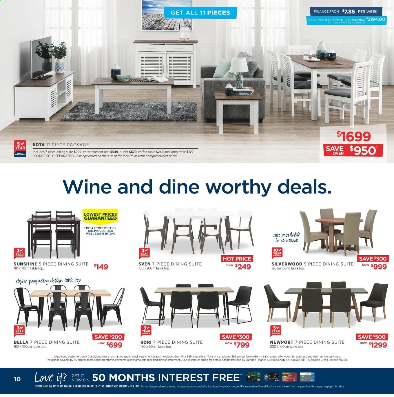 Amart Furniture catalogue  - 8.5.2019 - 4.6.2019. Page 10.