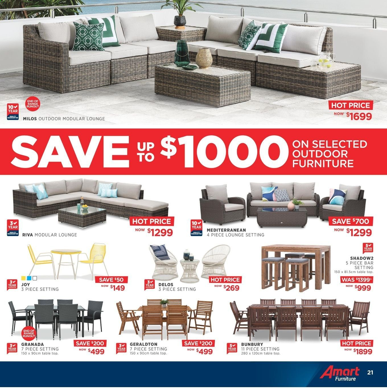 Amart Furniture catalogue  - 8.5.2019 - 4.6.2019. Page 21.