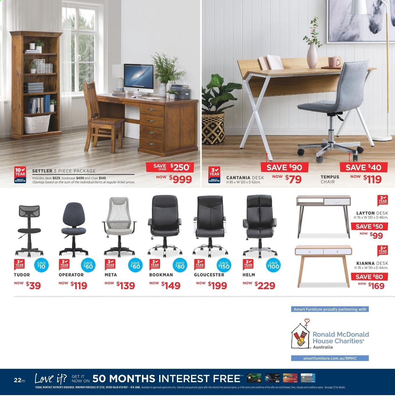 Amart Furniture catalogue  - 8.5.2019 - 4.6.2019. Page 22.