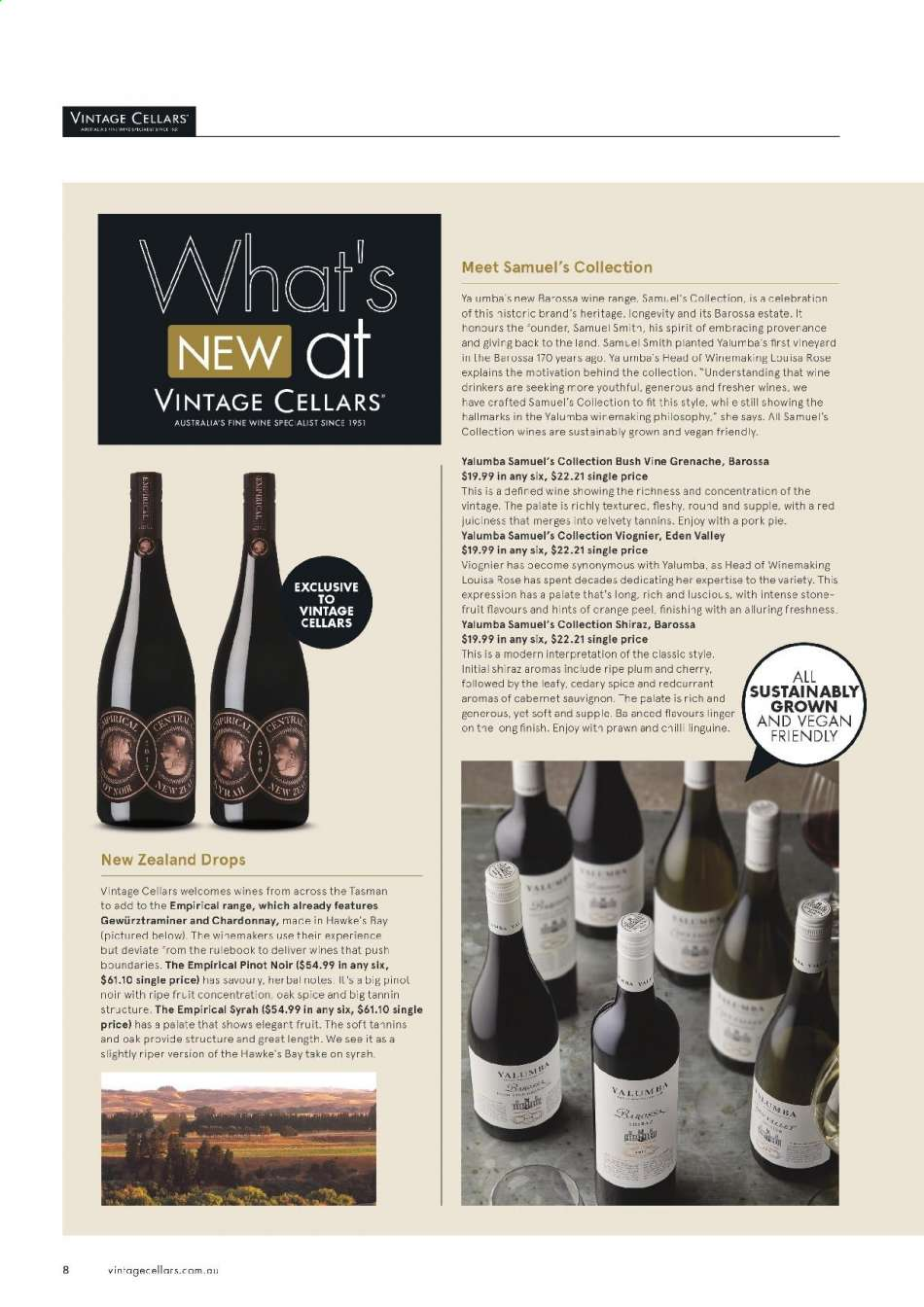 Vintage Cellars catalogue  - 15.5.2019 - 2.7.2019. Page 8.