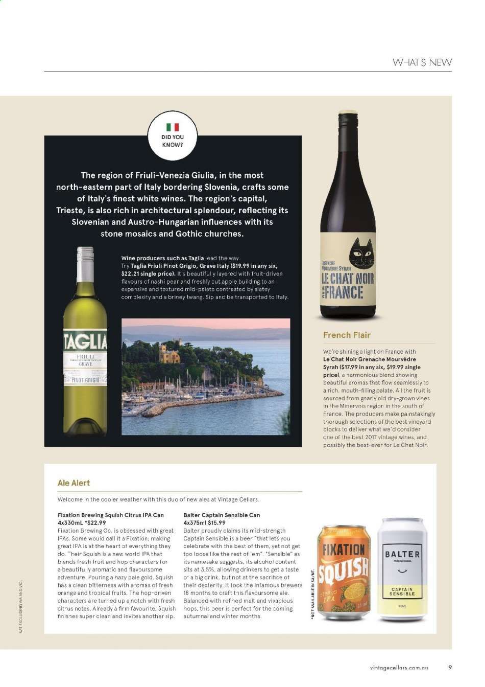 Vintage Cellars catalogue  - 15.5.2019 - 2.7.2019. Page 9.