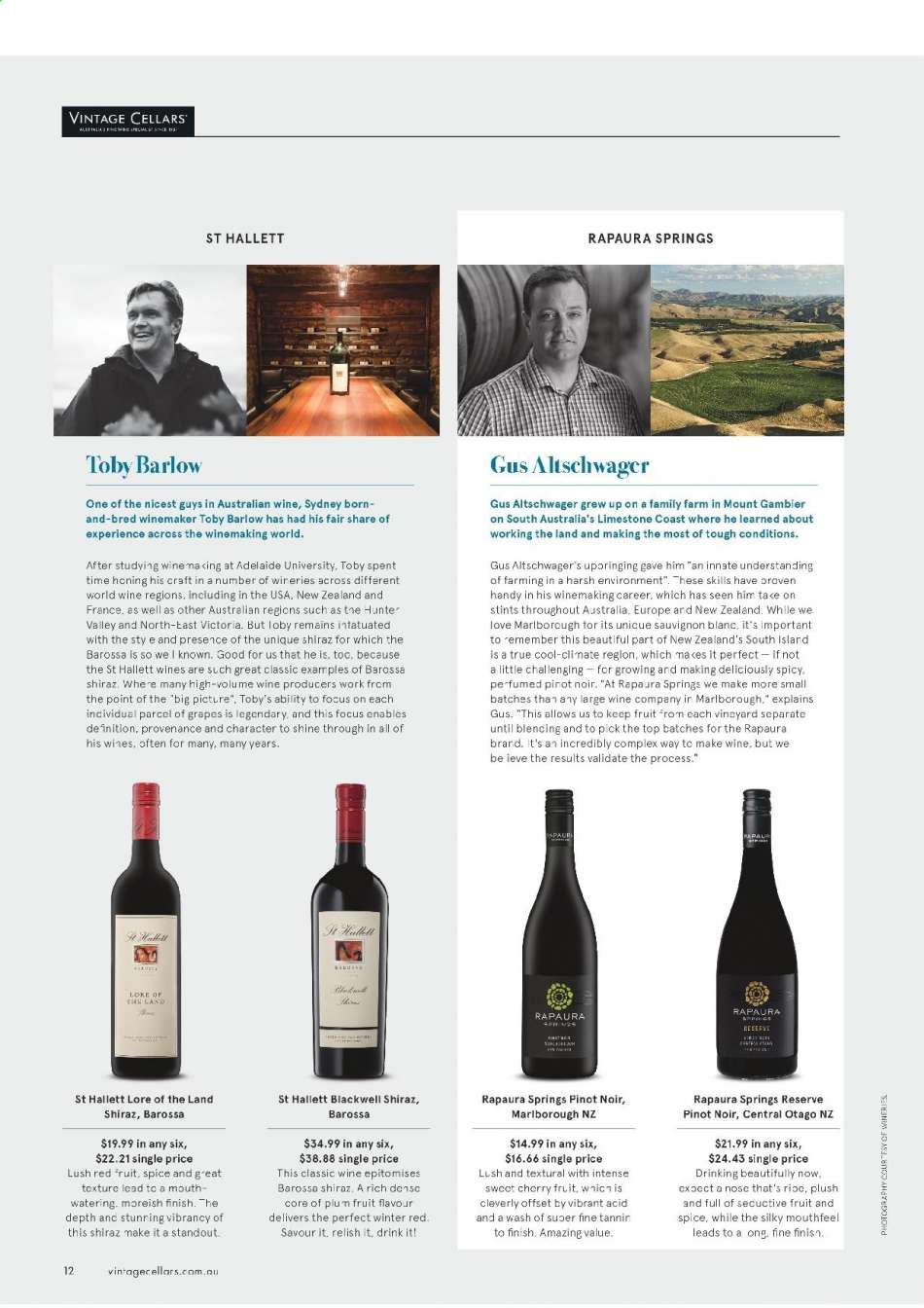 Vintage Cellars catalogue  - 15.5.2019 - 2.7.2019. Page 12.