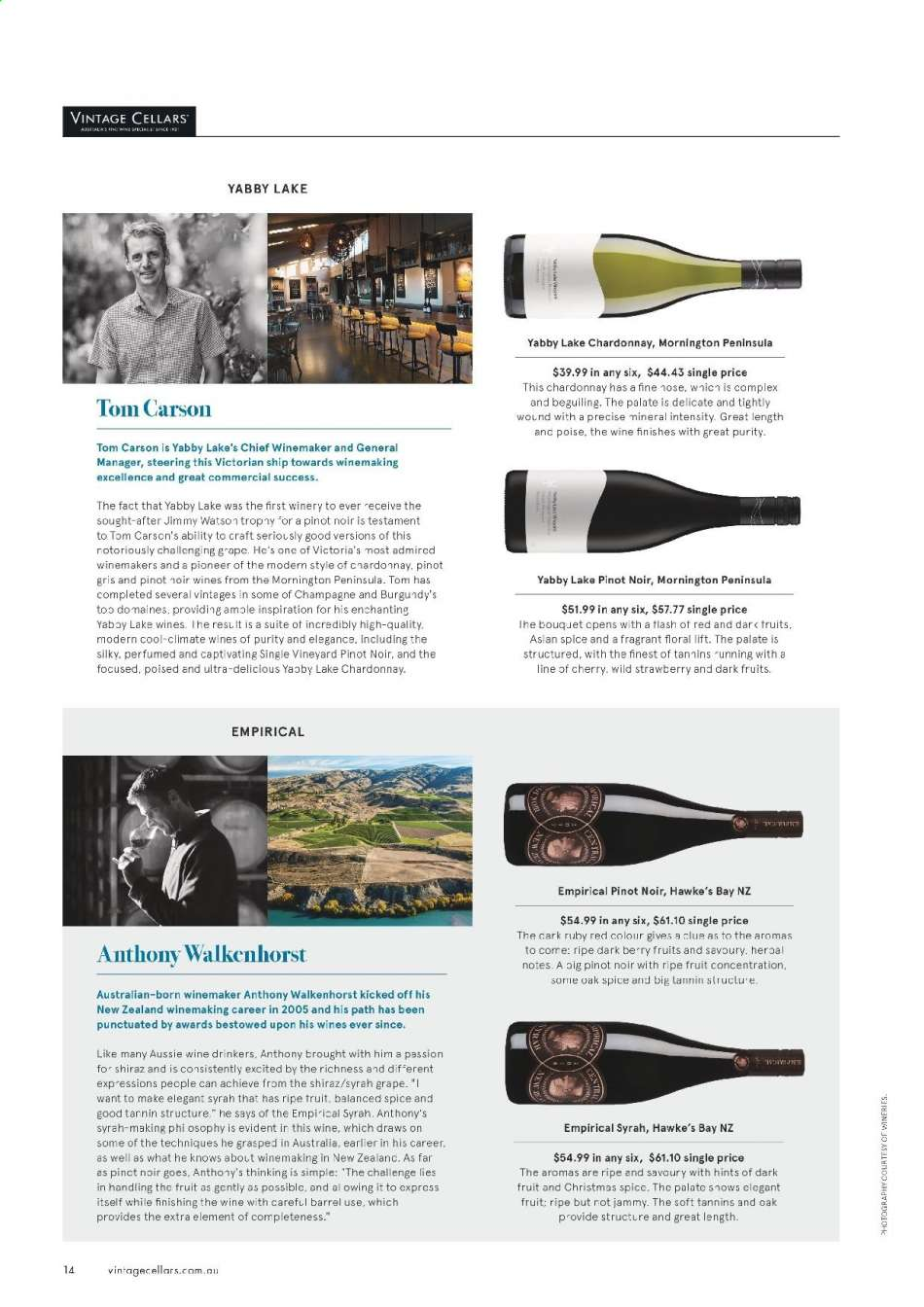 Vintage Cellars catalogue  - 15.5.2019 - 2.7.2019. Page 14.