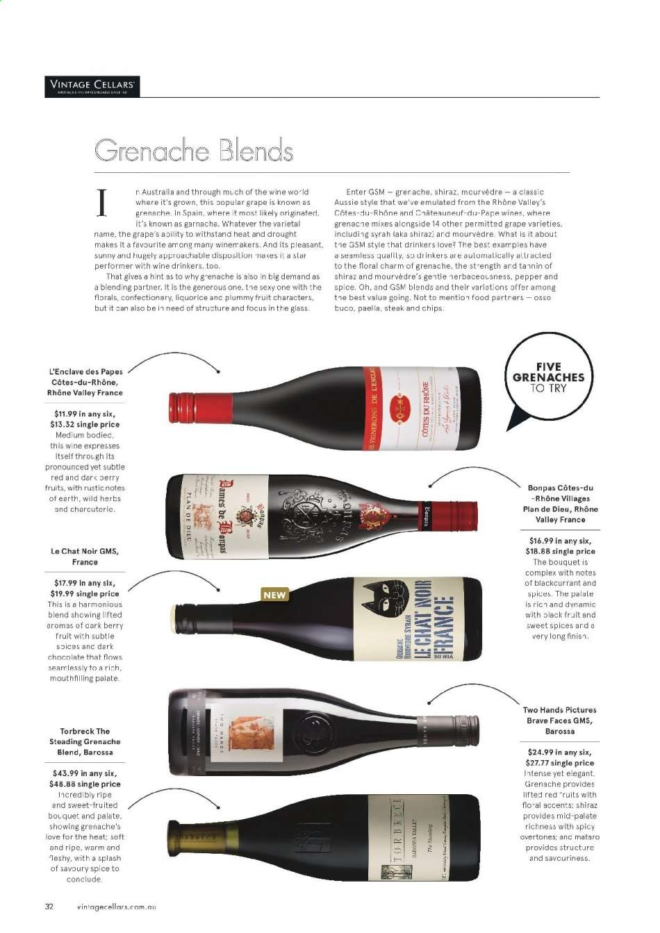 Vintage Cellars catalogue  - 15.5.2019 - 2.7.2019. Page 32.