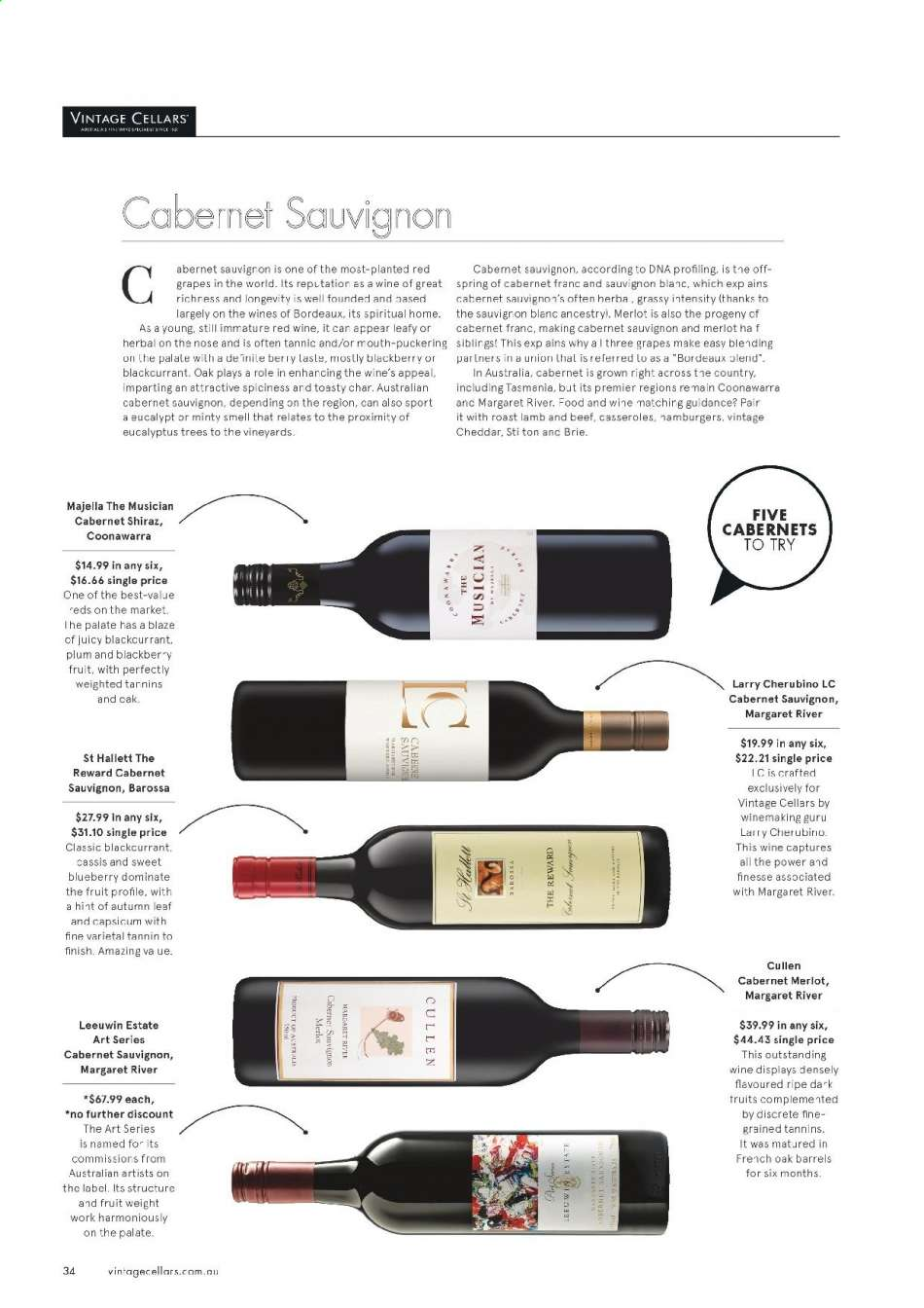 Vintage Cellars catalogue  - 15.5.2019 - 2.7.2019. Page 34.