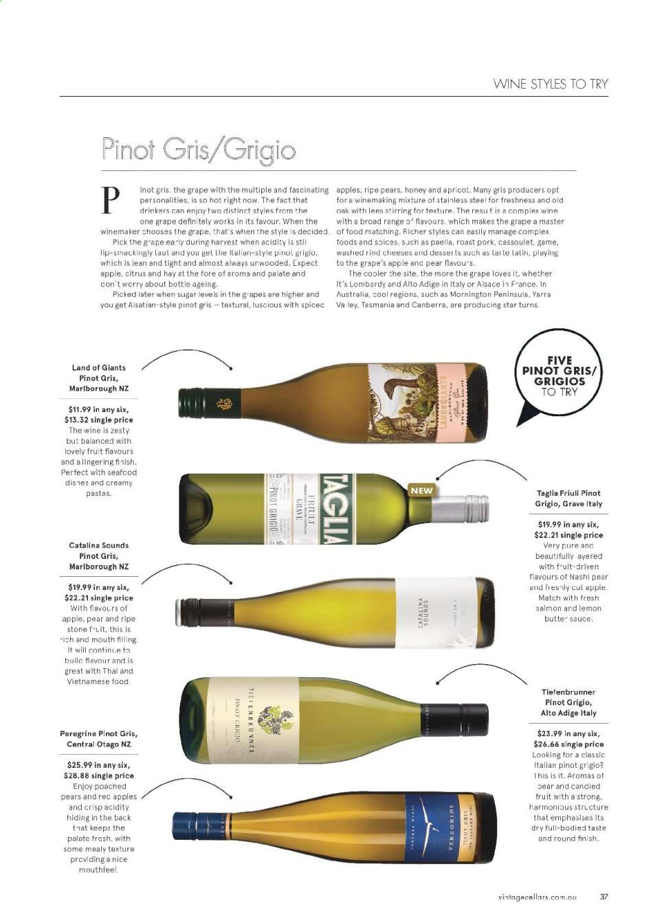 Vintage Cellars catalogue  - 15.5.2019 - 2.7.2019. Page 37.