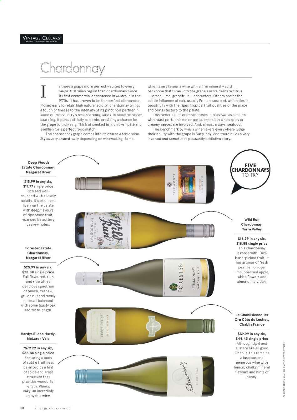 Vintage Cellars catalogue  - 15.5.2019 - 2.7.2019. Page 38.