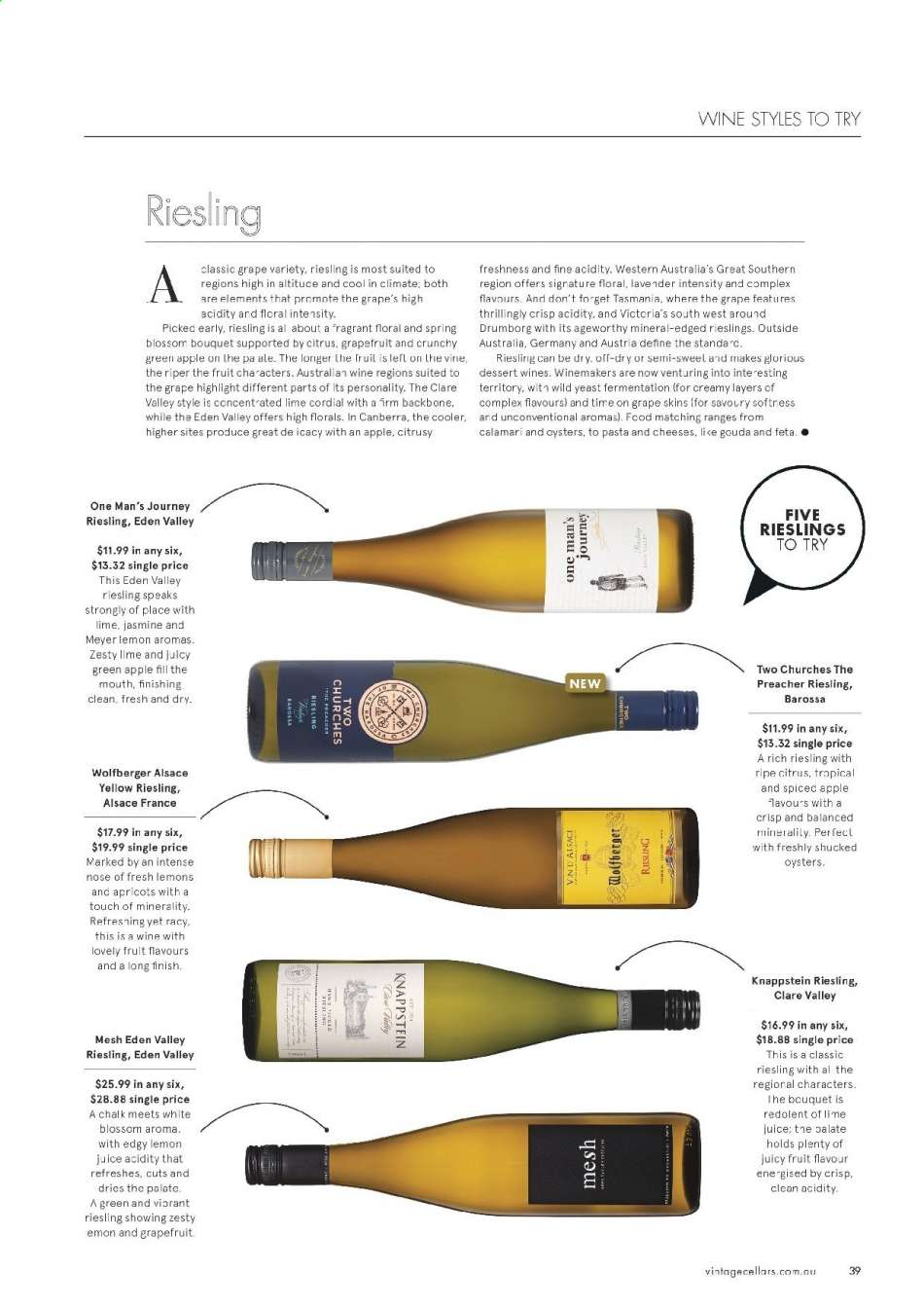 Vintage Cellars catalogue  - 15.5.2019 - 2.7.2019. Page 39.