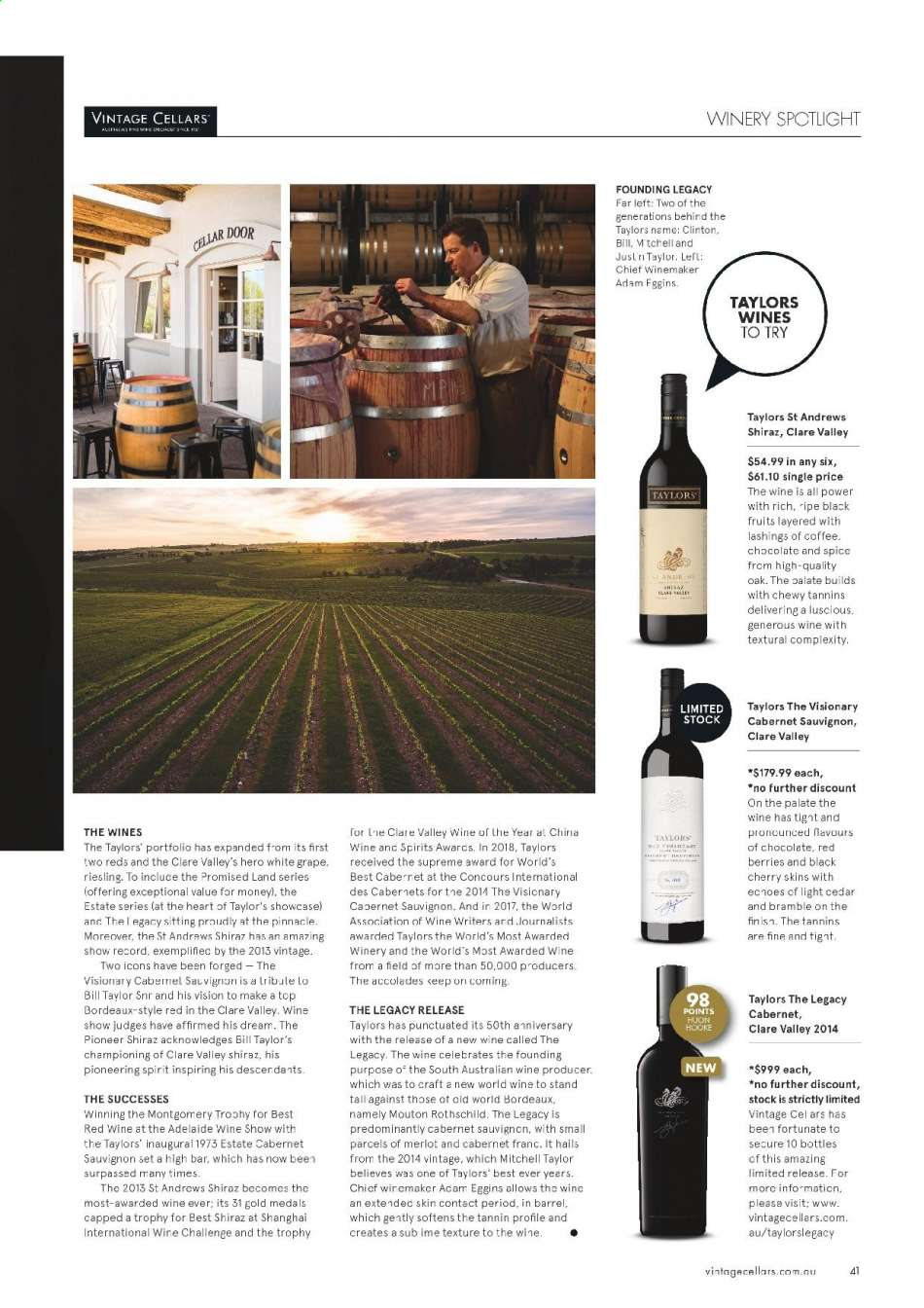 Vintage Cellars catalogue  - 15.5.2019 - 2.7.2019. Page 41.
