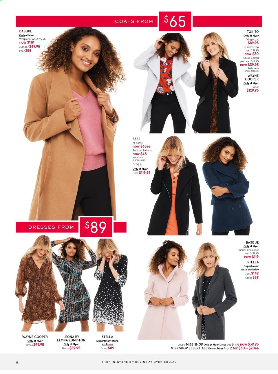 Myer catalogue . Page 2.