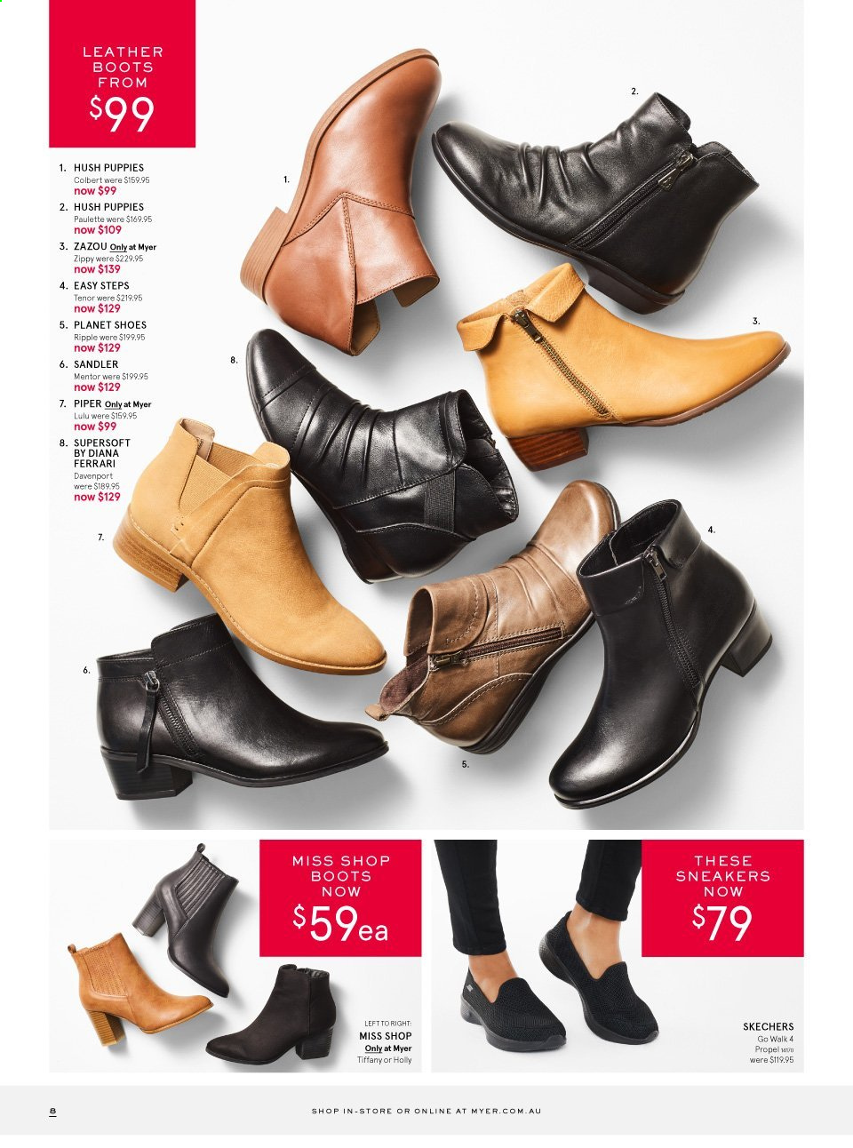 Myer catalogue . Page 8.