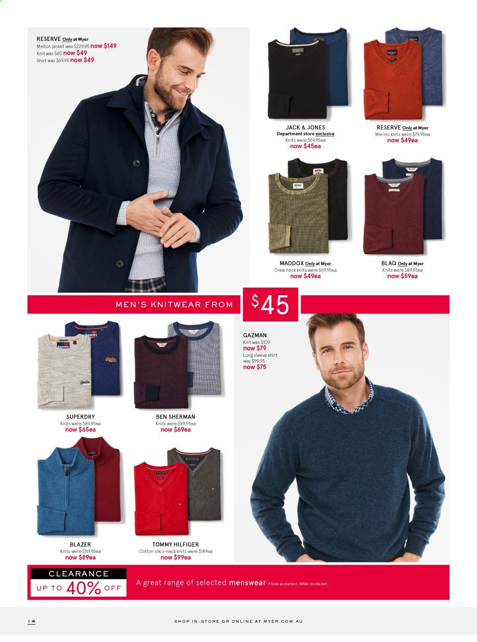 Myer catalogue . Page 14.