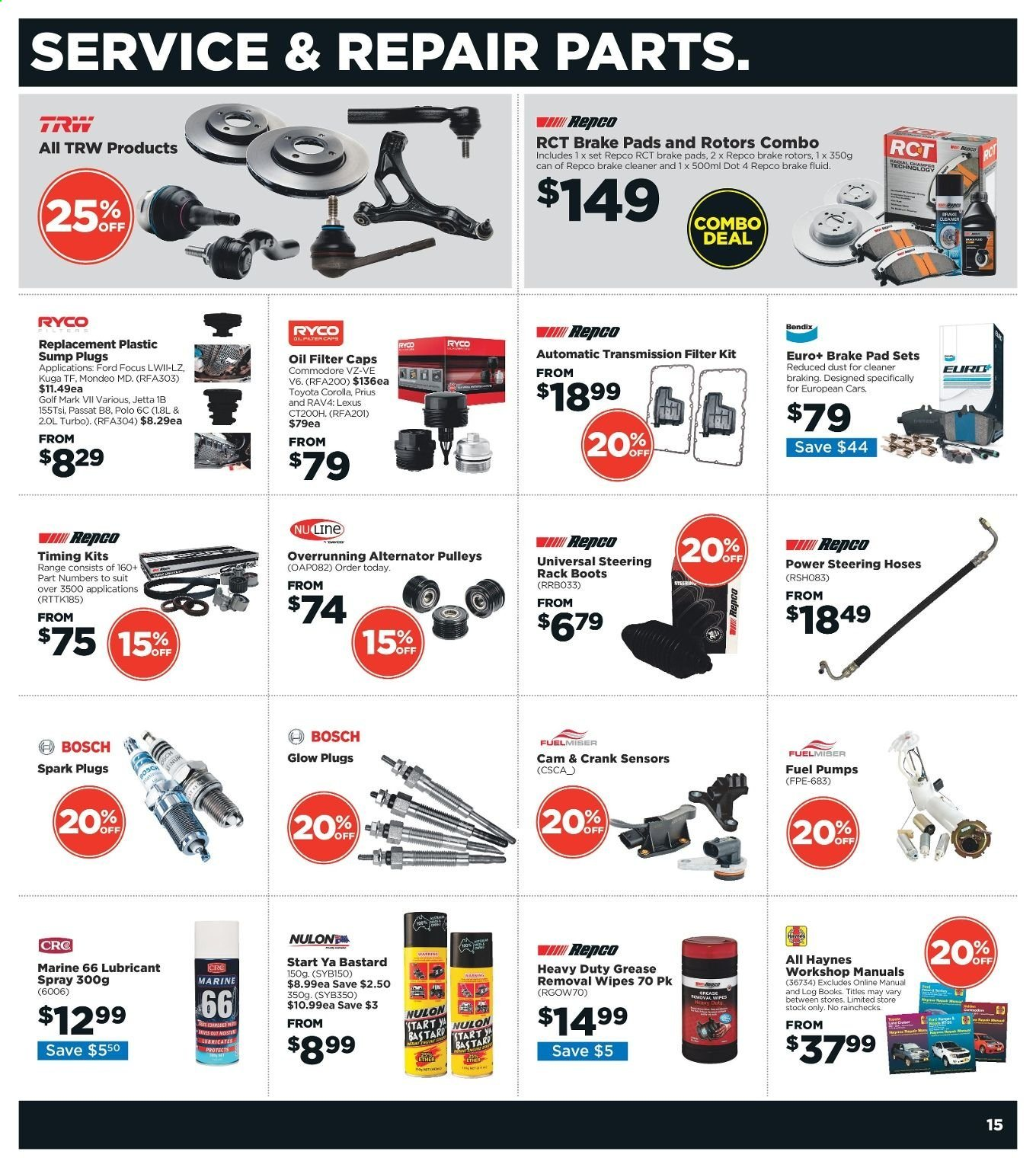 Repco catalogue  - 6.6.2019 - 16.6.2019. Page 15.