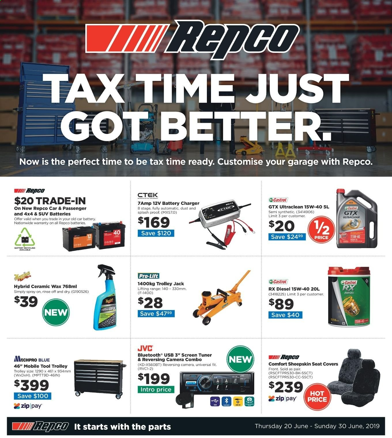 Repco catalogue  - 20.6.2019 - 30.6.2019. Page 1.