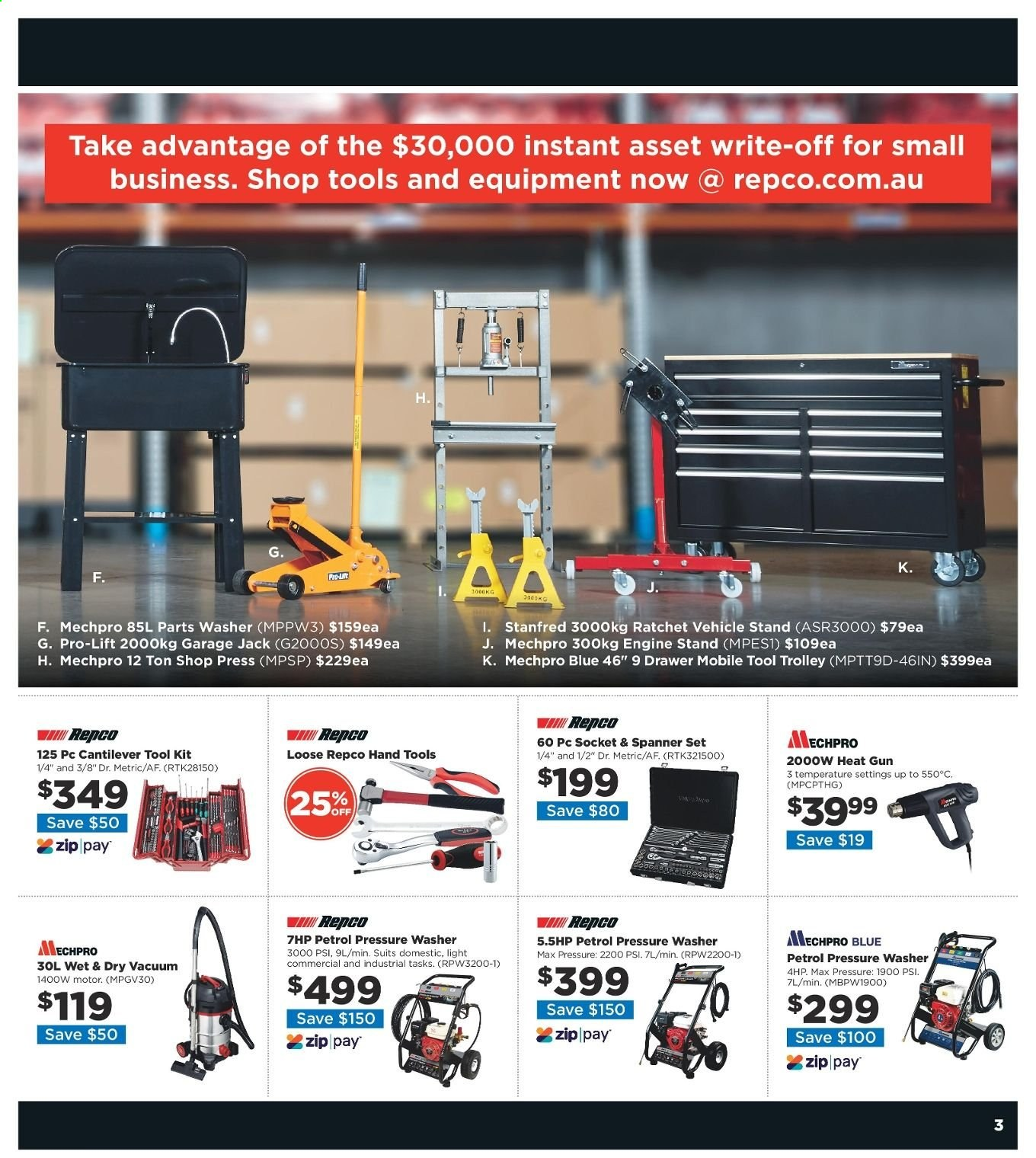Repco catalogue  - 20.6.2019 - 30.6.2019. Page 3.