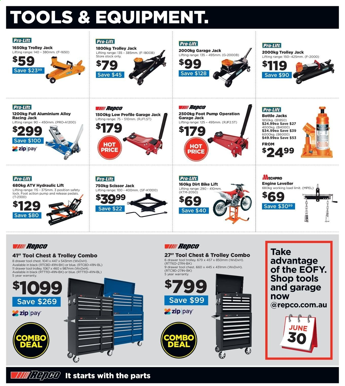 Repco catalogue  - 20.6.2019 - 30.6.2019. Page 4.