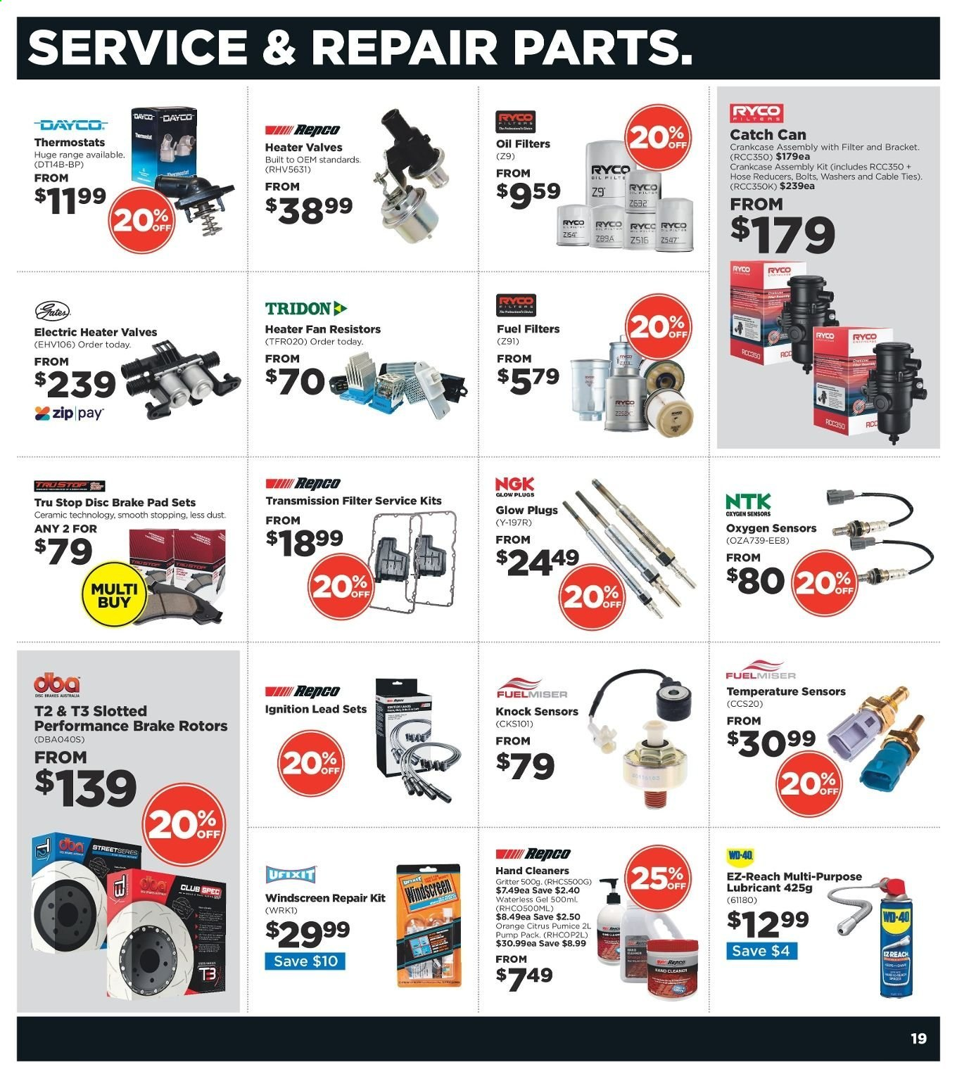 Repco catalogue  - 20.6.2019 - 30.6.2019. Page 19.