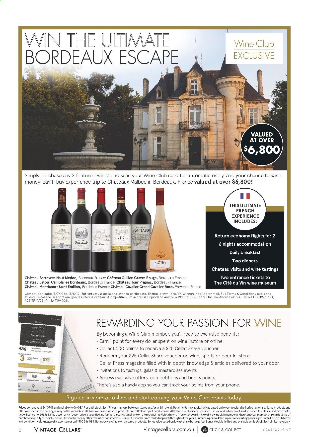 Vintage Cellars catalogue  - 24.7.2019 - 6.8.2019. Page 2.