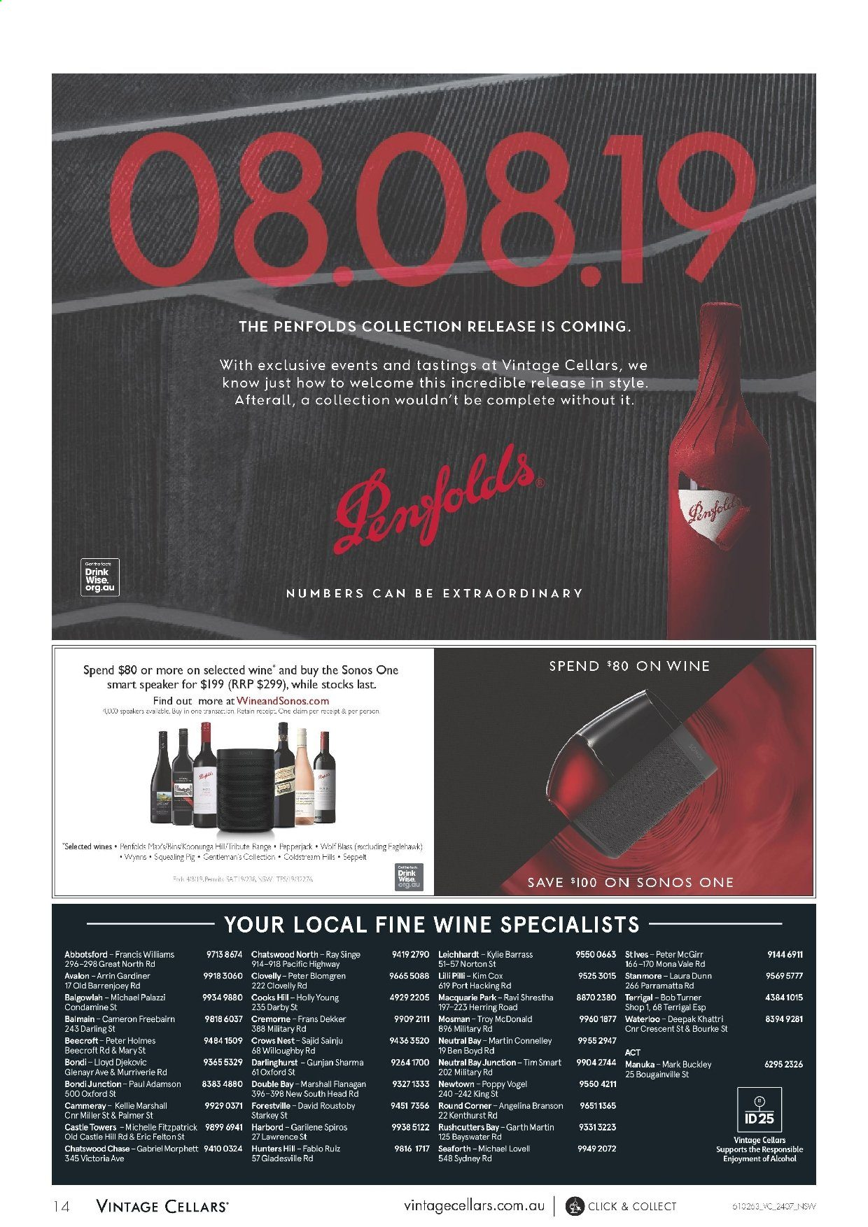 Vintage Cellars catalogue  - 24.7.2019 - 6.8.2019. Page 14.