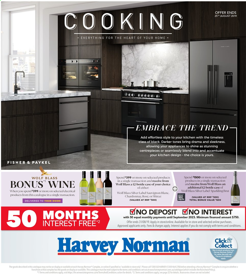 Harvey Norman catalogue  - 26.7.2019 - 25.8.2019. Page 1.