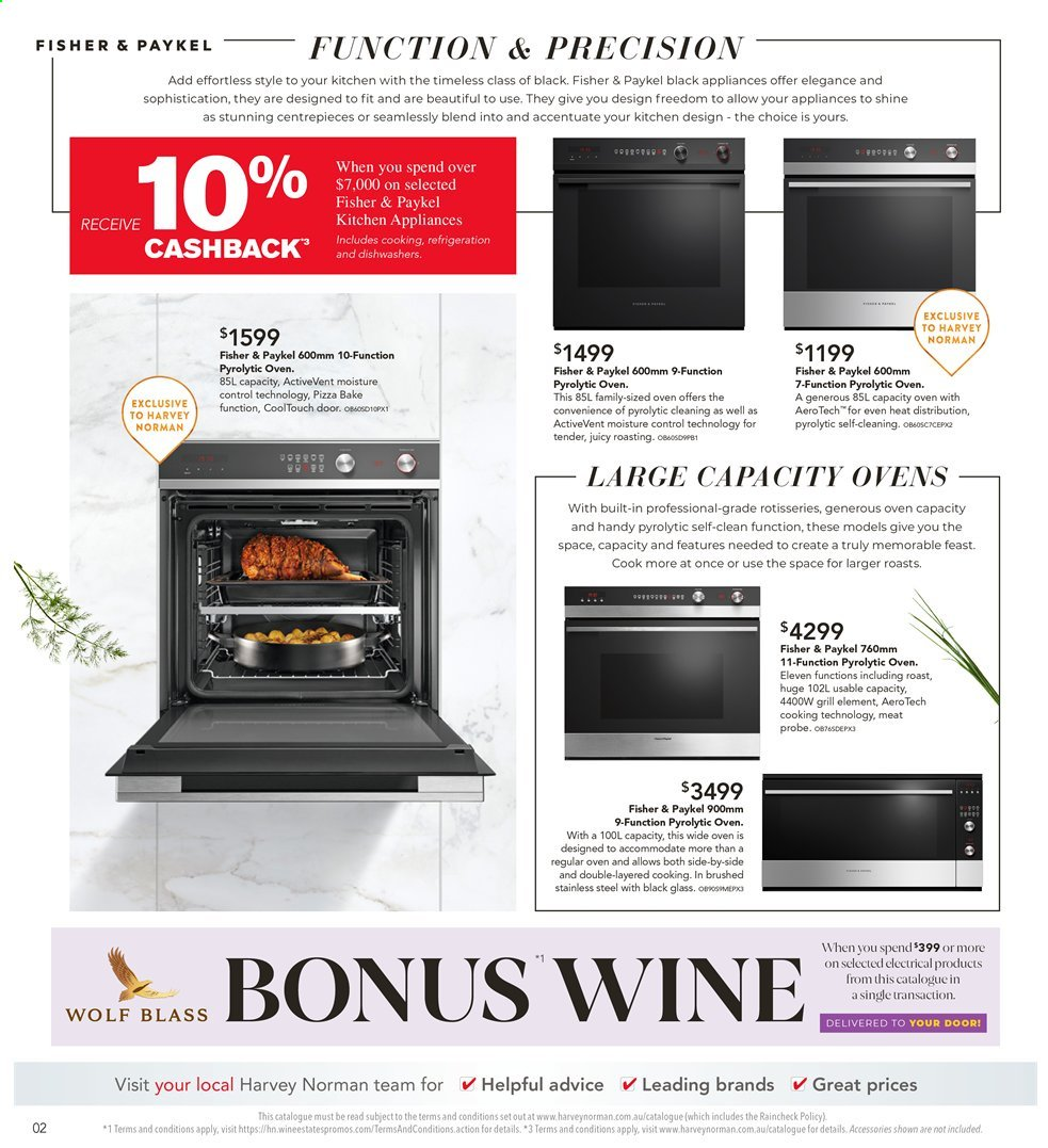 Harvey Norman catalogue  - 26.7.2019 - 25.8.2019. Page 2.