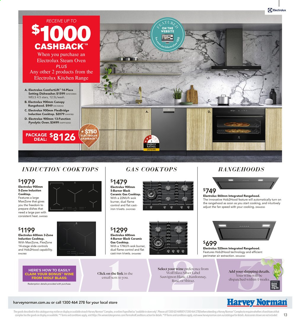 Harvey Norman catalogue  - 26.7.2019 - 25.8.2019. Page 13.