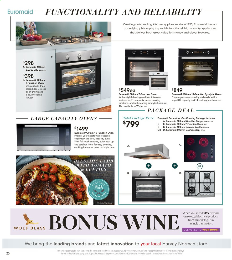 Harvey Norman catalogue  - 26.7.2019 - 25.8.2019. Page 20.