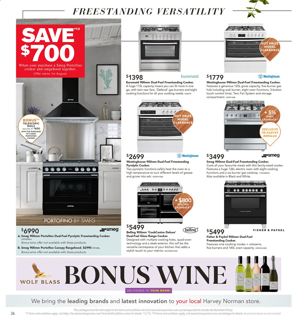 Harvey Norman catalogue  - 26.7.2019 - 25.8.2019. Page 26.