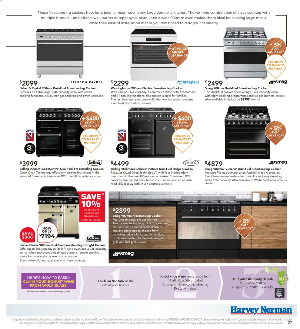 Harvey Norman catalogue  - 26.7.2019 - 25.8.2019. Page 27.